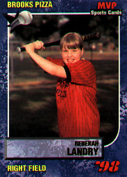 picture of Rebekah's baseball card